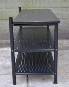 IKEA PINNIG 3 Tier Bench With Shoe Storage - Black