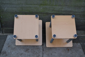 Set of 2 Square Turn-N-Tube Side Tables