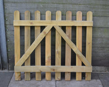Load image into Gallery viewer, Solid Wood Rounded Top Wicket Garden Gate -TAFS