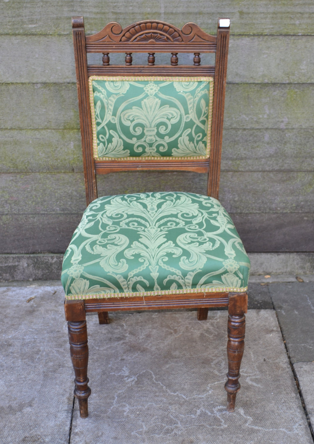 Vintage Carved Upholstered Dining Chair