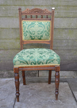 Load image into Gallery viewer, Vintage Carved Upholstered Dining Chair