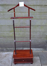 Load image into Gallery viewer, Vintage Wooden Clothes/Suit Gentleman's Valet/Butler Stand With Single Drawer - 184583