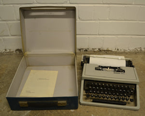 Original Vintage Olivetti Dora Portable Typewriter In Original Case - 180121-05
