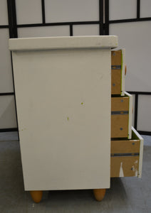 IKEA MAMMUT 3 Drawer Chest Of Drawers, Painted White - 190121-10