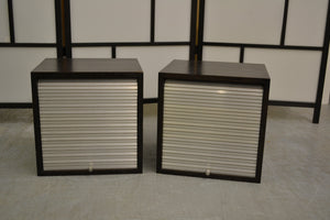 Matching Pair Of Small Roller Shutter Storage Cabinet Units - 190121-18/-19