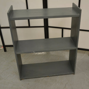 Small Freestanding Open 2 Shelf Bookcase, Grey - 190121-31
