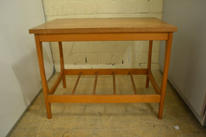 Vintage-Style Coffee Table With Slatted Storage Shelf - 260121-01