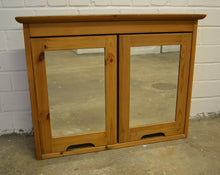 Load image into Gallery viewer, 2 Door Mirrored Pine Bathroom Cabinet With Glass Shelves - 260121-05