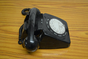 Geemarc Mayfair Classic Retro Telephone - Black / Push Button - 030221-08