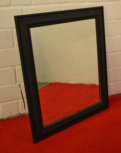 Wood Framed Wall Hanging Mirror, Painted Black - 18577