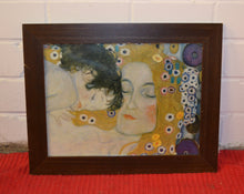 Load image into Gallery viewer, Gustav Klimt's 'Mother And Child' Glossy Poster Print, Framed - 181758