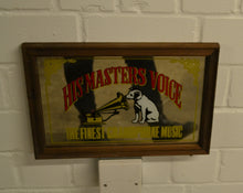 Load image into Gallery viewer, Rare Vintage HMV (His Master's Voice) Gramophone Mirror, Framed - 303472