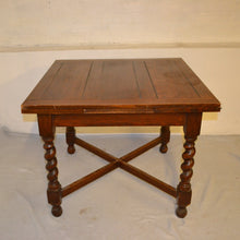 Load image into Gallery viewer, Antique 1930s Solid Oak Draw Leaf (Extendable) Dining Table - 185686