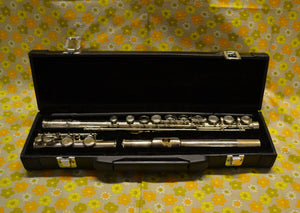 Parchment Flute Outfit With Black Hard Case - 170221-09