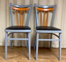 Load image into Gallery viewer, Retro Dining Chairs Orange Grey - Set of Two