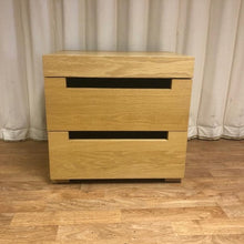 Load image into Gallery viewer, A Pair of 2 Drawer Bedside Tables, Beech