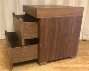 Walnut colour Bedside Unit / Table