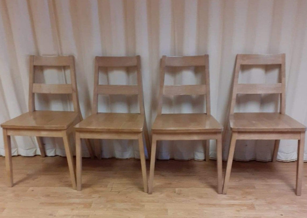 Scandinavian style solid wood dinning chairs MALMO white oak