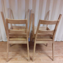 Load image into Gallery viewer, Scandinavian style solid wood dinning chairs MALMO white oak