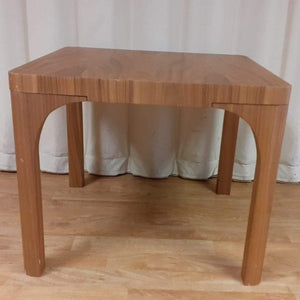 Faro Square Walnut Lamp Table