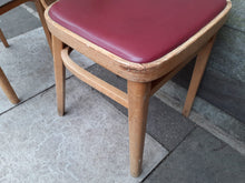 Load image into Gallery viewer, 2 x Mid Century bentwood Chairs. Desk Or Dining. Retro Vintage Great Colour