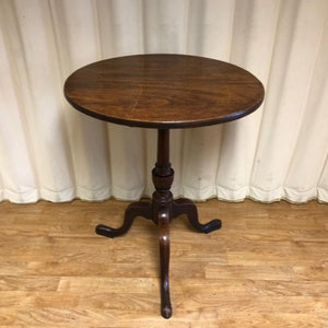Vintage Tilt Top Side Table In Walnut