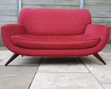 Load image into Gallery viewer, Modern 2 Seater Loveseat Sofa - Red
