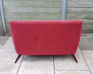 Modern 2 Seater Loveseat Sofa - Red