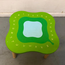 Load image into Gallery viewer, Colourful Solid Wood Child's Table - Alphabet Design