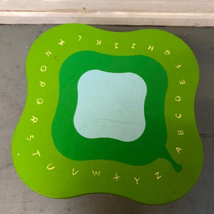 Colourful Solid Wood Child's Table - Alphabet Design