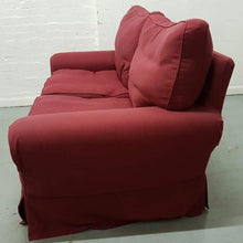 Load image into Gallery viewer, Large 2 Seater Fabric Upholstered Sofa - Red