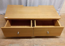 Load image into Gallery viewer, Low TV Stand With 2 Drawer - Wooden