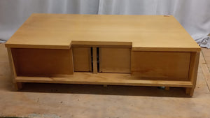 Low TV Stand With 2 Drawer - Wooden