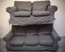 Load image into Gallery viewer, IKEA EKTORP 2 Seater & 3 Seater Sofa Set, Hallarp Grey - 600193/600183