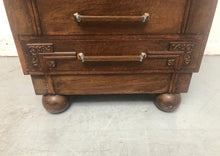 Load image into Gallery viewer, Antique Dark Wood Writing Bureau With 3 Drawers - 160221-05
