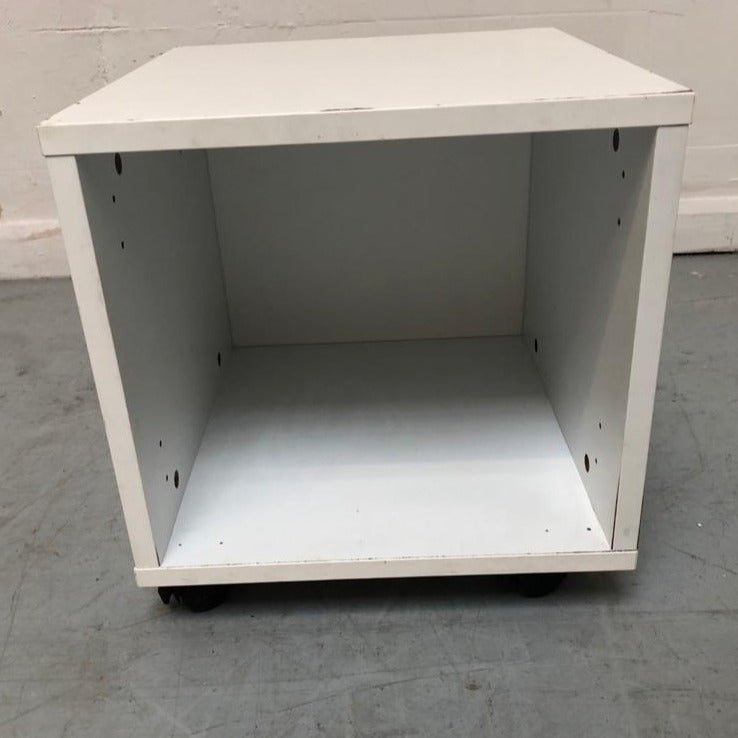 ASPACE Single Cube Storage On Casters, White - 170221-01