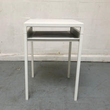 Load image into Gallery viewer, IKEA NYBODA Side Table, White/Light Grey Concrete Effect (Discontinued Range) - 183270