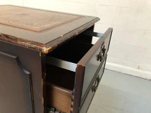 Load image into Gallery viewer, Vintage Dark Wood 2 Drawer Filing Cabinet - 180221-07