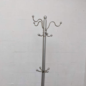 Metal Coat Rack With Heavy Marble Base - 230221-06
