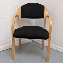 Load image into Gallery viewer, Wooden Frame 'Reception' Arm-chair, Black - 600155
