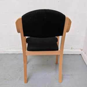 Wooden Frame 'Reception' Arm-chair, Black - 600155