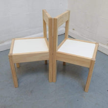 Load image into Gallery viewer, IKEA LATT, Children's Table & 2 Chairs, White/Pine - 290321-03