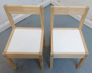 IKEA LATT, Children's Table & 2 Chairs, White/Pine - 290321-03