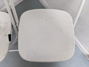 2 x Folding Chairs, Epoxy White - 030421-09/-10