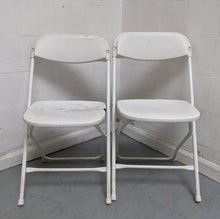 Load image into Gallery viewer, 2 x Folding Chairs, Epoxy White - 030421-09/-10