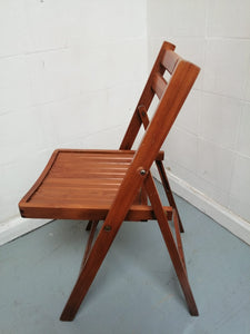 Vintage Retro Wooden Slatted Folding Chair - 080421-04