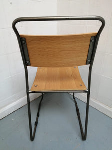 Vintage Retro Industrial Stacking Chair - 600290