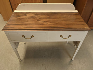 2 Drawer Dresser In White & Brown Wood-Tone Top - 169119
