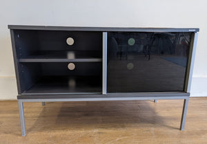 Modern TV/Media Unit With 2 Sliding Glass Doors, Grey - 182866