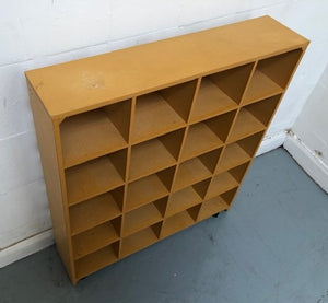 Pigeon/Cubby Hole Storage/Shelving Unit On Castors - 150321-06